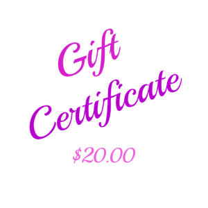 This beautiful $20 Gift Certificate is printed on card and presented in a matching printed envelope ready for gifting. You can arrange for it to be sent to yourself or directly to the lucky recipient with a message from you. Ideal for a Gift idea, Birthday Gift, Christmas Gift, Anniversary Gift or any other Gift giving idea. Keep some on hand for that last minute gift.