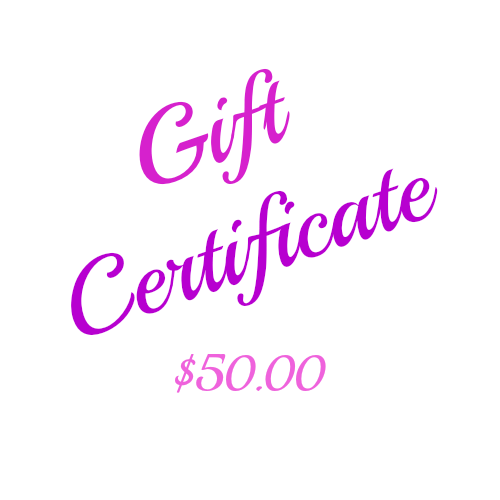 This beautiful $50 Gift Certificate is printed on card and presented in a matching printed envelope ready for gifting. You can arrange for it to be sent to yourself or directly to the lucky recipient with a message from you. Ideal for a Gift idea, Birthday Gift, Christmas Gift, Anniversary Gift or any other Gift giving idea. Keep some on hand for that last minute gift.