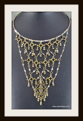 Award winning brass and crystal necklace