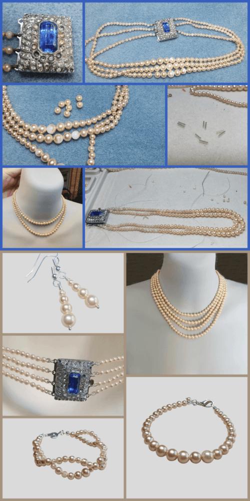 repair glass pearl necklace