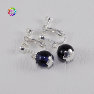 Screw-Back Earwires and Glass Earrings This screw-back style of earring is suitable for people without pierced ears.