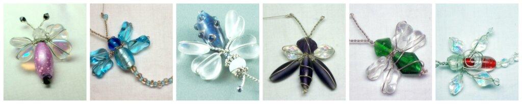 Suncatcher brooch decoration bug dragonfly butterfly