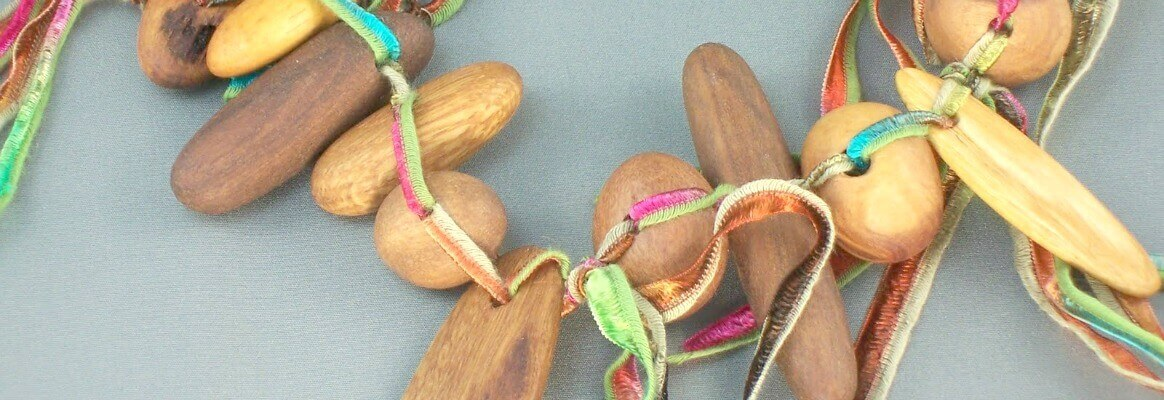 Australian wood and fibre necklace. More about this design in the blog and you are welcome to contact me for more information