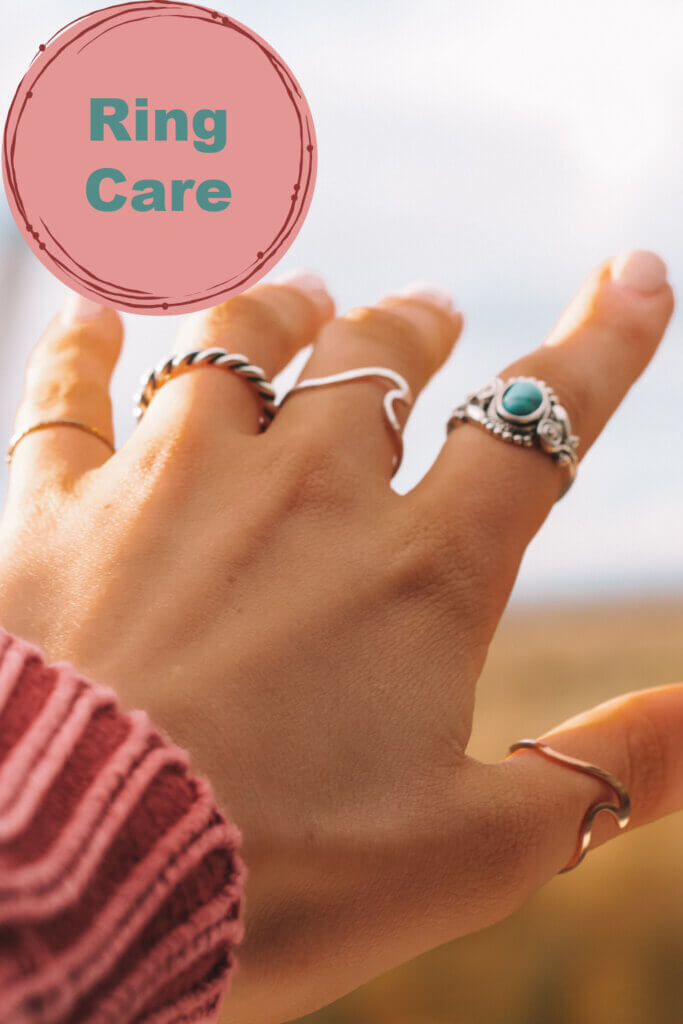 cleaning and caring for jewellery rings