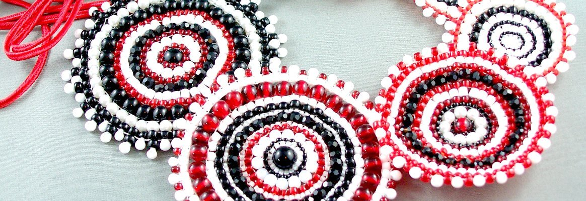 stitched beaded necklace - welcome to MaxineFaye