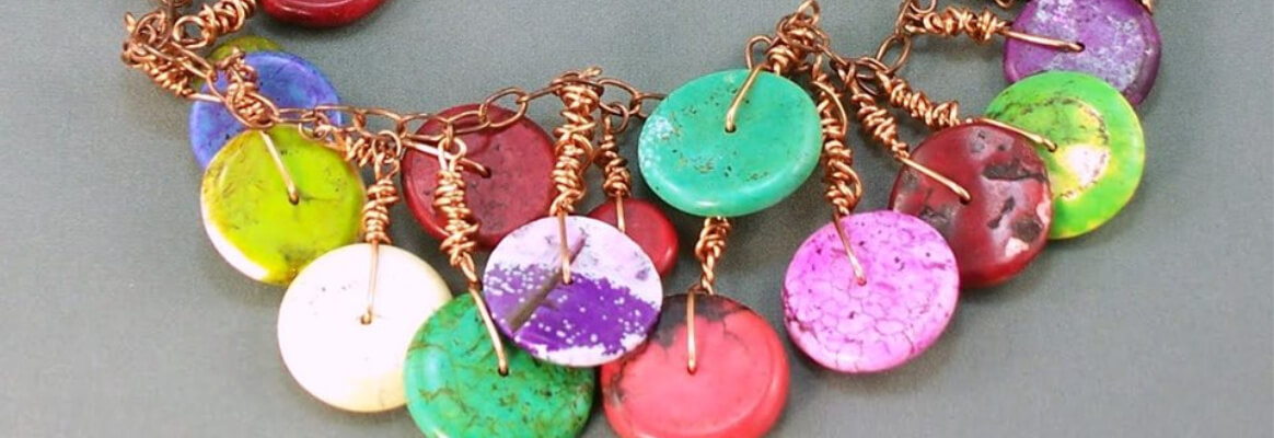 colourful stone wire wrapped necklace. Welcome. Contact MaxineFaye if you have further questions