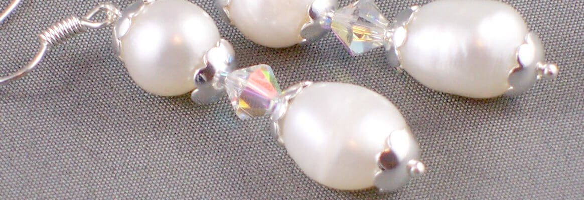 pearl & crystal earrings are part of my portfolio