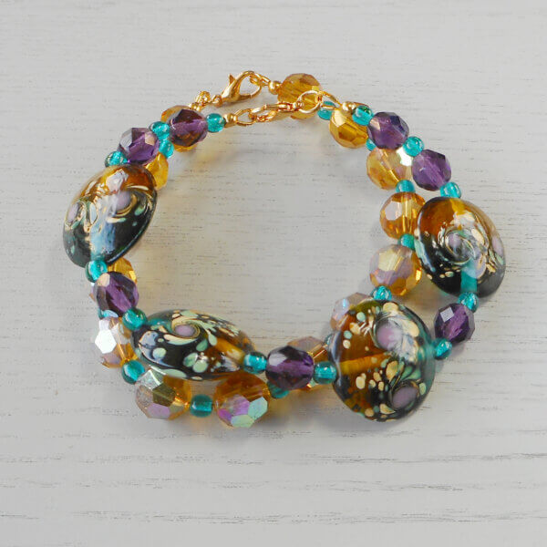 Gold Rush and Eucla bracelets stacked