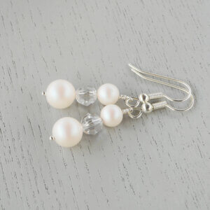 White Lily earrings