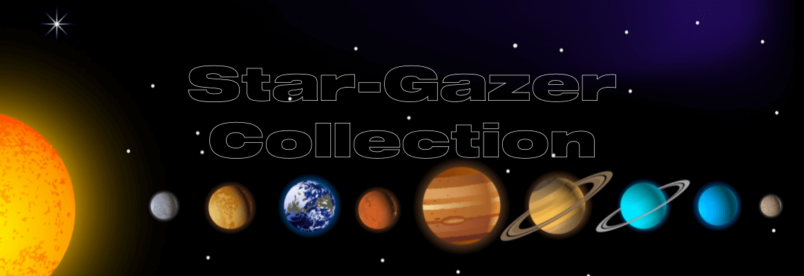 The Star Gazer collection is inspired by the connection we have with our Solar System and where we sit in the universe.