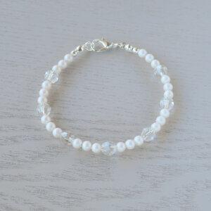 white lily bracelet