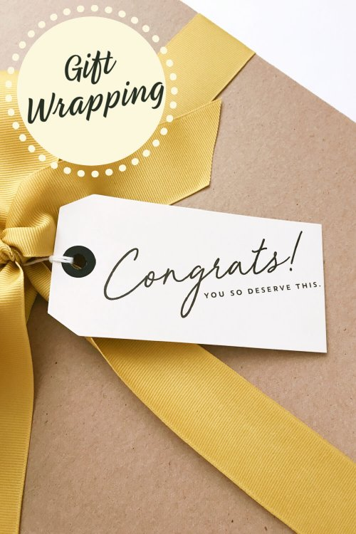 Gift wrapping is available at MaxineFaye